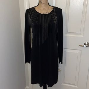 NWT Michael Kors black dress w chains sz medium
